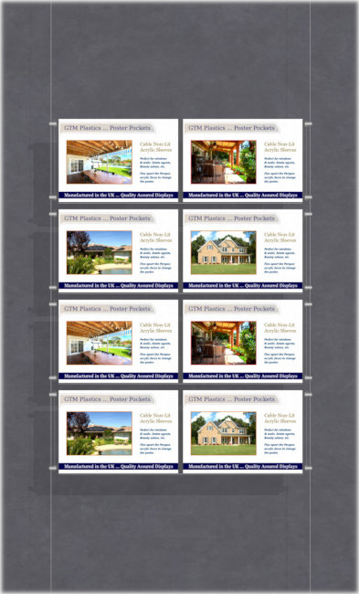 A4 Landscape double width poster display