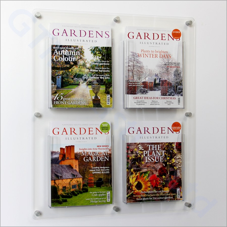 A4 Leaflet Dispensers 2x2 Wall Display